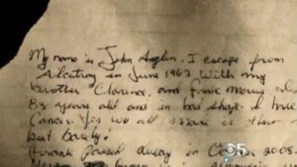 Un des évadés d'Alcatraz envoie une lettre au FBI 55 ans plus tard 2