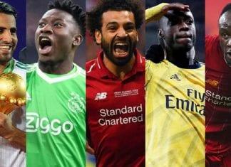 Riyad Mahrez, André Onana, Mohamed Salah, Nicolas Pépé et Sadio Mané ont été les plus brillants en 2019.