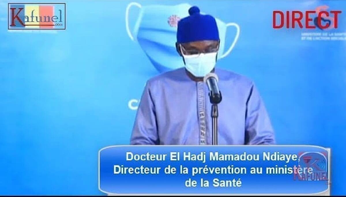Docteur El Hadj Mamadou Ndiaye - 83 nouveaux cas déclarés, aucun décès recensé jeudi (officiel)