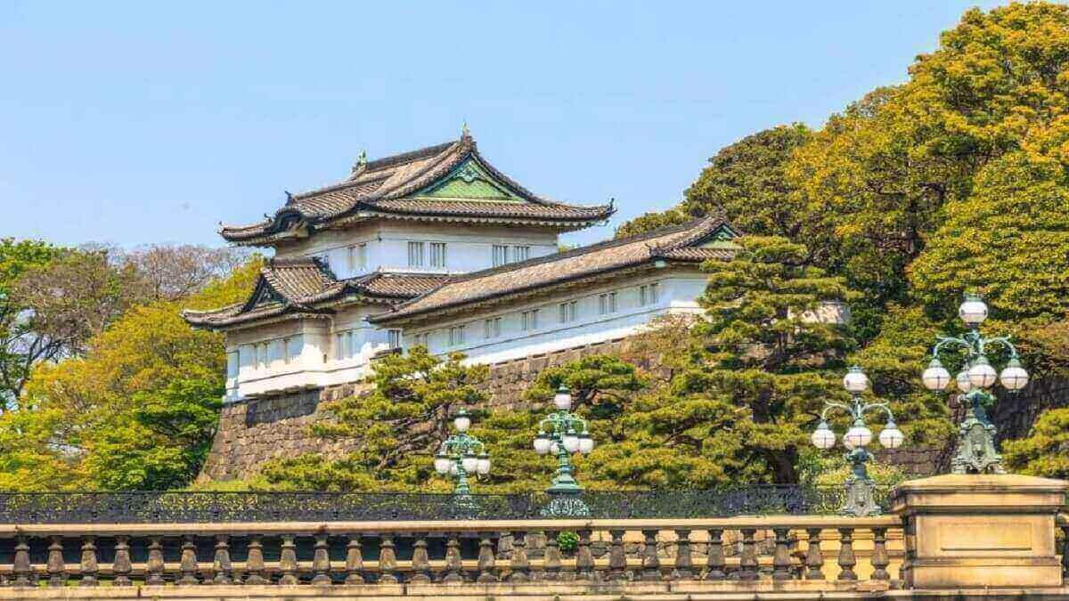 9- Le palais impérial de Tokyo, Japon