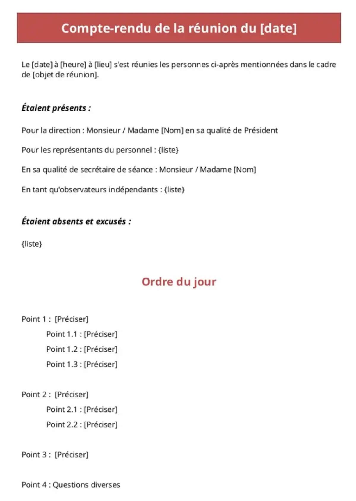 Procès-verbal de réunion à télécharger au format Pdf (Page 1 sur 3)